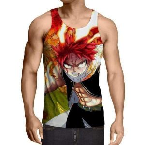 Angry face Natsu Fairy Tail Tank Top XXS / Multi-color Official Fairy Tail Merch