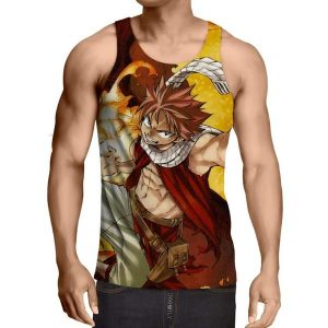 Dragneel Natsu Fairy Tail Tank Top XXS / Multi-color Official Fairy Tail Merch