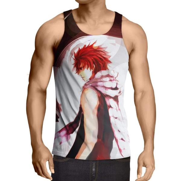 Cool Dragneel Natsu Fairy Tail 3D Printed Fairy Tail Tank Top XXS / Multi-color Official Fairy Tail Merch