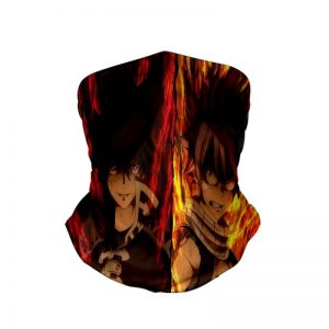 Dragneel Brothers Natsu Zeref Fire Up Fairy Tail Neck Gaiter Bandanna Scarf Default Title Official Fairy Tail Merch