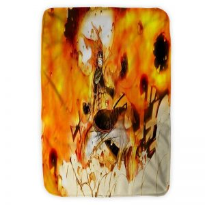 Dragon Slayer Natsu Dragneel Fire Fist Fairy Tail Blanket Small (30 x 40 in) Official Fairy Tail Merch
