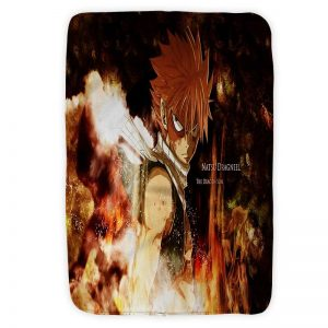 Dragon Slayer Son Of Dragon Natsu Dragneel Fist Fairy Tail Blanket Small (30 x 40 in) Official Fairy Tail Merch