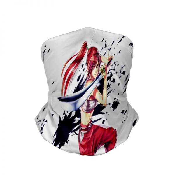 Erza Scarlet  Clear Heart Clothing Embossed Ink Neck Gaiter Bandanna Scarf Fairy Tail Neck Gaiter Bandanna Scarf Default Title Official Fairy Tail Merch
