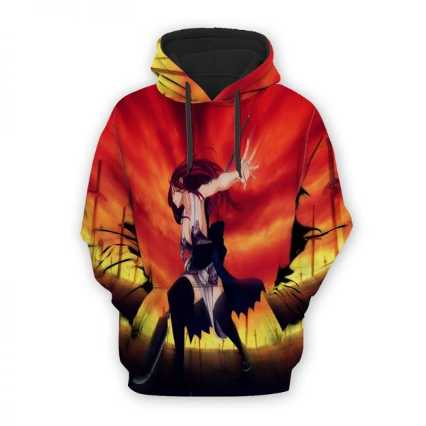 Fairy Tail Erza Scarlet Cool Color Crossover Magical Fairy Tail Hoodie XXS Official Fairy Tail Merch
