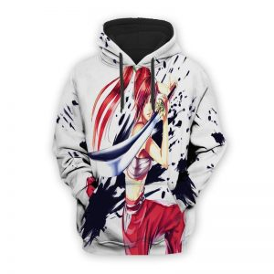 Erza Scarlet Armor Fairy Tail Hoodie XXS Official Fairy Tail Merch