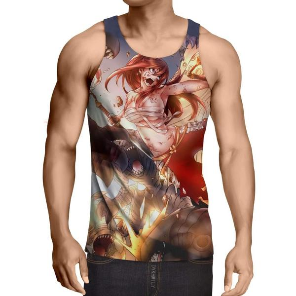 Erza Scarlet Armor Fairy Tail  Fairy Tail Tank Top XXS / Multi-color Official Fairy Tail Merch
