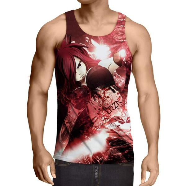 Erza Scarlet Red Fairy Tail 3D Printed Fairy Tail Tank Top XXS / Multi-color Official Fairy Tail Merch
