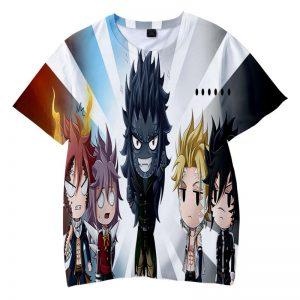 Fairy Tail Chibi Team Dragon Slayer Natsu Gajeel Fairy Tail T-shirt XXS Official Fairy Tail Merch