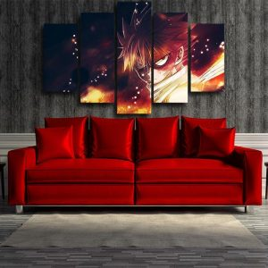 Fairy Tail 3D Printed Angry Natsu Fairy Tail Canvas S / Framed Official Fairy Tail Merch