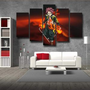 Fairy Tail Canvas 3D Printed Devian-Art Natsu S / Framed Official Fairy Tail Merch