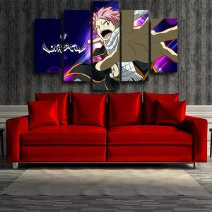 Fairy Tail Canvas 3D Printed Dragneel Natsu S / Framed Official Fairy Tail Merch