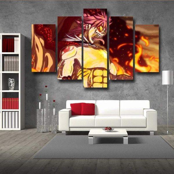 Fire Dragon Roar Fairy Tail Canvas 3D Printed S / Framed Official Fairy Tail Merch