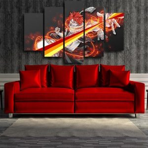 Fire Spectrum Natsu Fairy Tail Canvas 3D Printed S / Framed Official Fairy Tail Merch