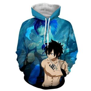 Fairy Tail Gray Fullbuster Blue Fairy Tail Hoodie XXS Official Fairy Tail Merch