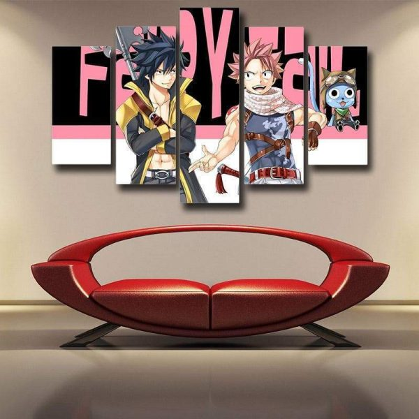 Gray Fullbuster & Natsu Fairy Tail Canvas 3D Printed S / Framed Official Fairy Tail Merch