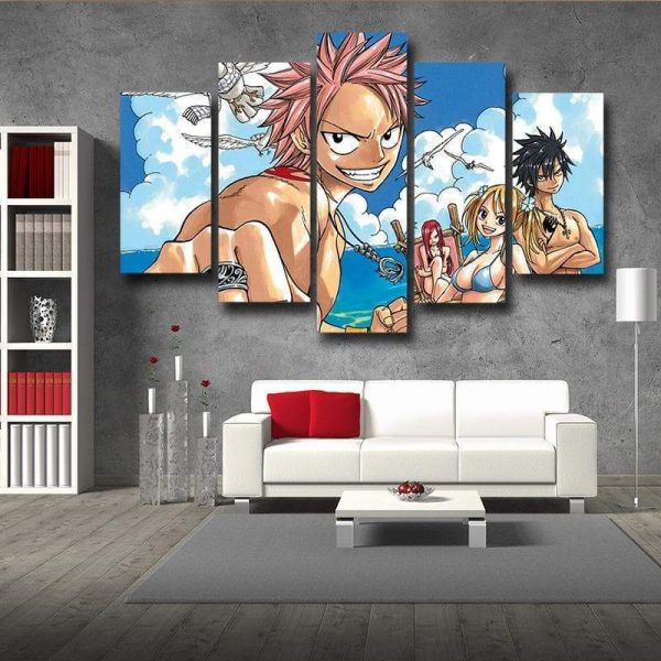 Guild at Beach Fairy Tail Canvas 3D Printed S / Framed Official Fairy Tail Merch