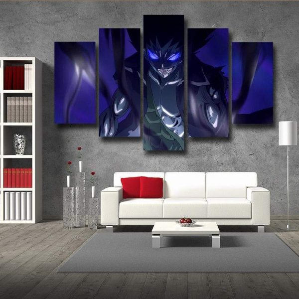 Iron Dragon Gajeel Fairy Tail Canvas 3D Printed S / Framed Official Fairy Tail Merch