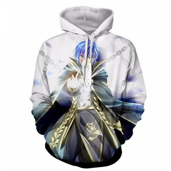 Fairy Tail Jellal_White Fairy Tail Hoodie XXS Official Fairy Tail Merch