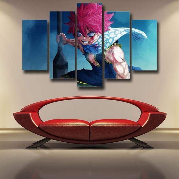 Fairy Tail Canvas 3D Printed Natsu Bleeding S / Framed Official Fairy Tail Merch