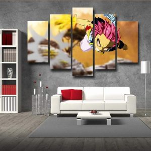 Fairy Tail Canvas 3D Printed Natsu Dragneel S / Framed Official Fairy Tail Merch