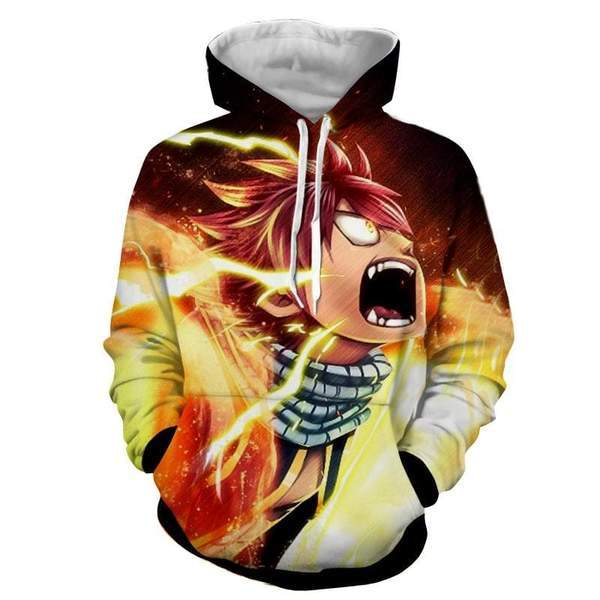 Fairy Tail Natsu Dragneel Fairy Tail Hoodie XXS Official Fairy Tail Merch