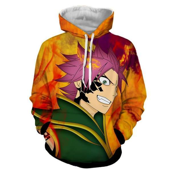 Fairy Tail Zeref VS Natsu Dragneel Fairy Tail Pullover Hoodie XXS Official Fairy Tail Merch