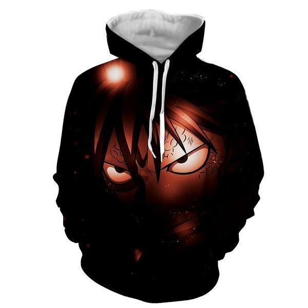 Fairy Tail Natsu Dragneel Face Black Fairy Tail 3D Printed Hoodie XXS Official Fairy Tail Merch