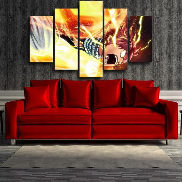Fairy Tail Canvas 3D Printed Natsu Son Of Dragon S / Framed Official Fairy Tail Merch