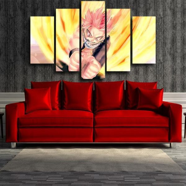 Fairy Tail Canvas 3D Printed Natsu Wall S / Framed Official Fairy Tail Merch