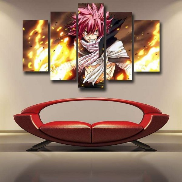 Fairy Tail 3D Printed Pink Haired Natsu Canvas S / Framed Official Fairy Tail Merch