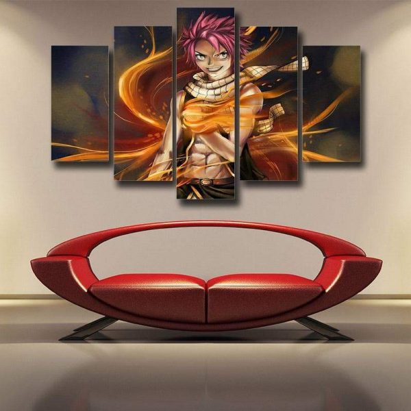 Fairy Tail 3D Printed Canvas Smiling Natsu S / Framed Official Fairy Tail Merch
