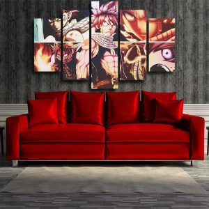 Fairy Tail 3D Printed Son Of Dragon Natsu Fairy Tail Canvas S / Framed Official Fairy Tail Merch