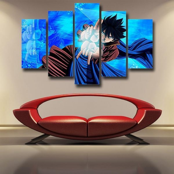 Fairy Tail 3D Printed Zeref Blue Fairy Tail Canvas S / Frame Official Fairy Tail Merch