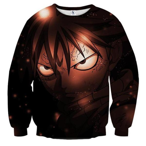 Fairy Tail Black Face Natsu Fairy Tail Sweatshirt XXS Official Fairy Tail Merch
