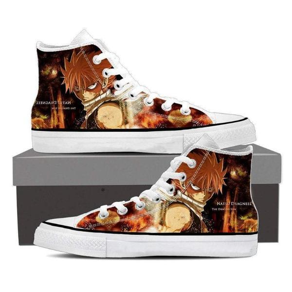 Flat Converse Natsu Son of Dragon Fairy Tail Sneaker Shoes 5 Official Fairy Tail Merch