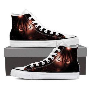 Dark Brown Natsu Magnolia Customized  Fairy Tail Sneaker Shoes 5 Official Fairy Tail Merch