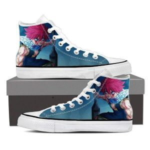 Natsu Blue Magnolia Customized Angry Fairy Tail Sneaker Shoes 5 Official Fairy Tail Merch
