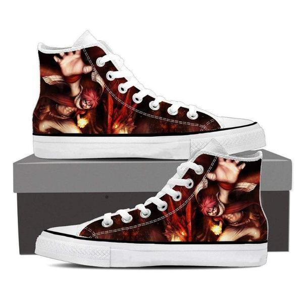 Dragon Fire Magnolia Customized  Natsu Fairy Tail Sneaker Shoes 5 Official Fairy Tail Merch