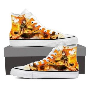 Fairy Tail Magnolia Customized Dragneel Natsu Fired up Fairy Tail Sneaker Shoes 5 Official Fairy Tail Merch