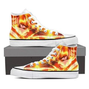 Hip Hop Club Fire  Magnolia Customized Natsu Fairy Tail Sneaker Shoes 5 Official Fairy Tail Merch