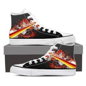 Fire Dragneel Natsu Tail Magnolia Customized Fairy Tail Sneaker Shoes 5 Official Fairy Tail Merch