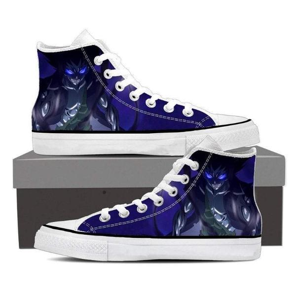 Magnolia Customized Blue Gajeel Iron Dragon Fairy Tail Sneaker Shoes 5 Official Fairy Tail Merch
