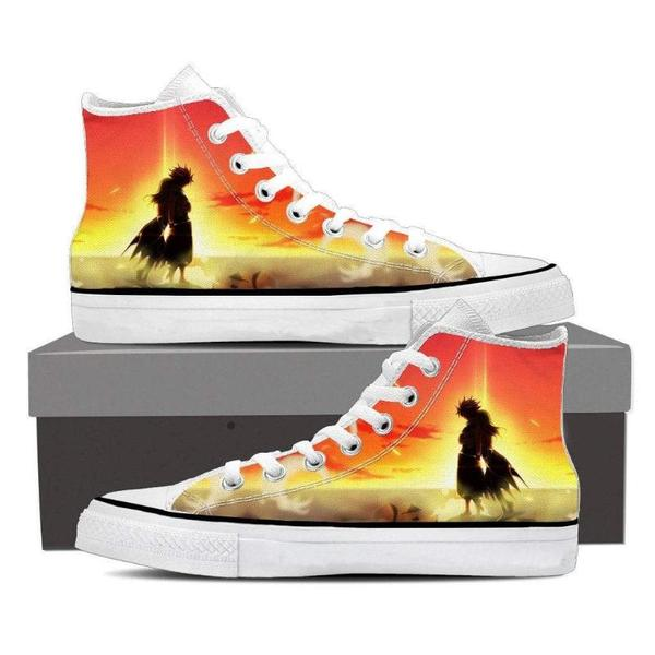 Lucy and Natsu Magnolia Customized Fairy Tail 3D Printed Sneaker Shoes 5 Official Fairy Tail Merch