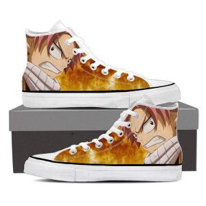 Natsu Fire Magnolia Customized  Face Fairy Tail 3D Printed Shoes 5 Official Fairy Tail Merch