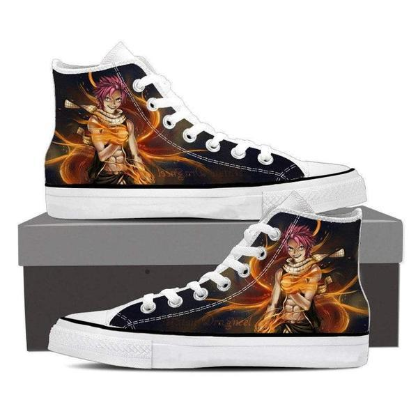 Natsu Dragneel Manga  Magnolia Customized  Fairy Tail Shoes 5 Official Fairy Tail Merch