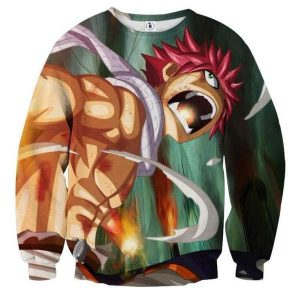Fairy Tail Dragon Roar Natsu Fairy Tail Sweatshirt XXS Official Fairy Tail Merch