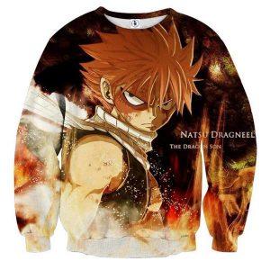 Fairy Tail Dragon Son Natsu Fairy Tail Sweatshirt XXS Official Fairy Tail Merch