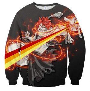 Fairy Tail Fire Spectrum Natsu Fairy Tail Sweatshirt XXS Official Fairy Tail Merch