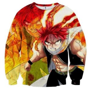 Fairy Tail Fired Up Dragneel Fairy Tail Sweatshirt XXS Official Fairy Tail Merch
