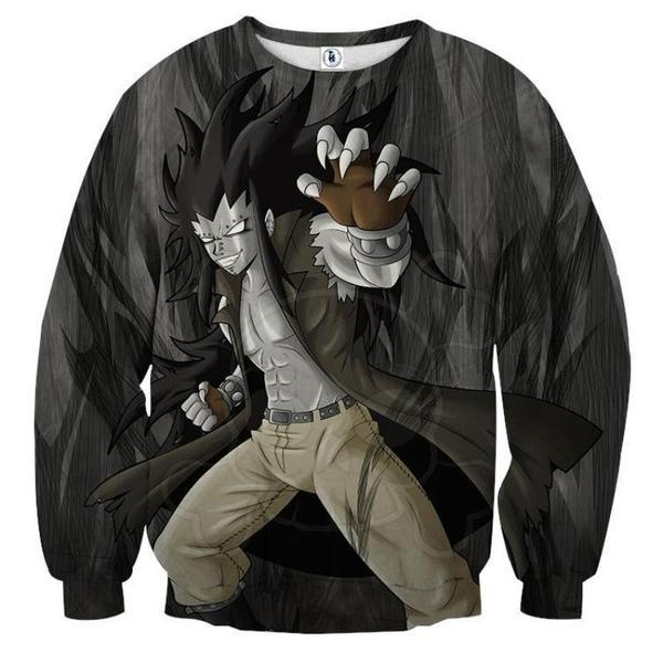 Fairy Tail Gajeel Black Fairy Tail Sweatshirt XXS Official Fairy Tail Merch
